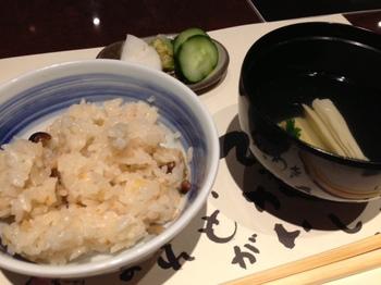 シメジとクリのご飯湯葉吸い物.JPG